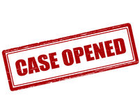Case opened Stock Photos