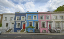 Case pastelli, Notting Hill - Londra Fotografia Stock Libera da Diritti