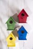 Case per gli uccelli Fotografie Stock