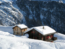 Case per le vacanze in Wallis fotografia stock