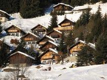 Case per le vacanze in Wallis immagini stock