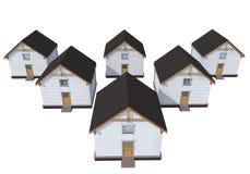 Case private di modello di architettura Immagine Stock