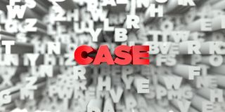 CASE -  Red text on typography background - 3D rendered royalty free stock image Royalty Free Stock Image