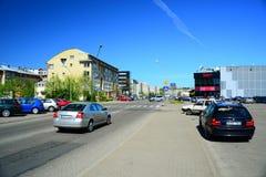 Case residenziali del distretto di Pasilaiciai della città di Vilnius in via di Baltrusaicio Immagini Stock Libere da Diritti