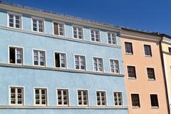 Case residenziali in Wasserburg, Germania Fotografia Stock Libera da Diritti