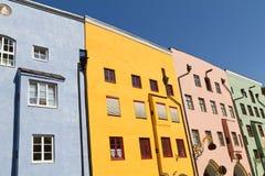 Case residenziali in Wasserburg, Germania Fotografia Stock