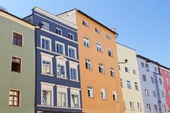 Case residenziali in Wasserburg, Germania Fotografie Stock Libere da Diritti
