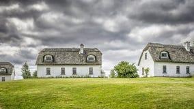 Case ricoperte di paglia in Irlanda fotografia stock