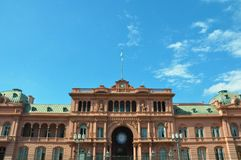 Case Rosada Casa rosa Puerto Madero al crepuscolo l'argentina Fotografia Stock Libera da Diritti