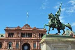 Case Rosada Casa rosa Puerto Madero al crepuscolo l'argentina Immagine Stock