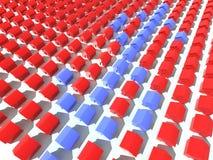 Case rosse e blu Fotografia Stock Libera da Diritti