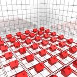 Case rosse sulla coordinata Fotografia Stock Libera da Diritti