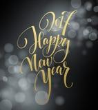 Case a rotulação 2017 do Natal e do ano novo feliz Ilustração do vetor do Natal com bokeh realístico ilustração stock