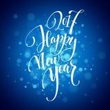 Case a rotulação 2017 do Natal e do ano novo feliz Ilustração do vetor do Natal com bokeh realístico, luzes Fotografia de Stock