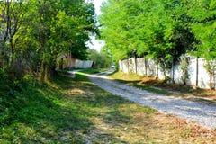 Case rurali tipiche del contadino e del paesaggio nel villaggio TicuÅŸu Vechi, Deutsch-Tekes, la Transilvania, Romania Immagine Stock