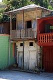 Case a schiera minuscole in San Juancito, Honduras fotografia stock libera da diritti