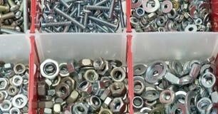 A case of screws Royalty Free Stock Photos