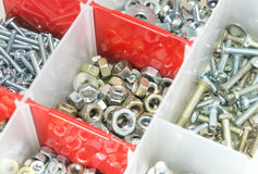 A case of screws Stock Photography