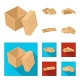 Case, shell, framework, and other web icon in cartoon,flat style.Box, container, package, icons in set collection. Royalty Free Stock Image