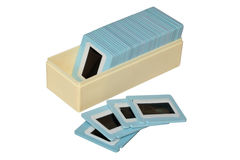Case with slides Stock Photos