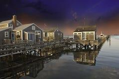 Case sopra acqua in Nantucket immagini stock libere da diritti