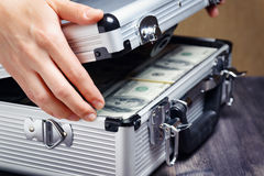 Storage and protection of cash and valuable items Stock Photos