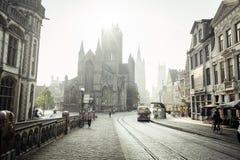Case storiche a Gand immagini stock libere da diritti