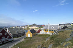 Case storiche Nuuk, Groenlandia Fotografie Stock
