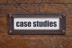 Case studies  label Stock Images