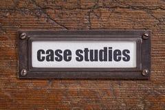 Case studies label stock images