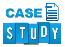 Case Study Blue Professional With Symbol Royalty Free Stock Photos