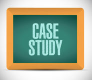 Case study board sign concept Royalty Free Stock Images