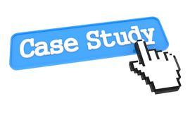 Case Study Button with Hand Cursor. Royalty Free Stock Photos
