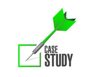Case study check dart sign concept Stock Photo