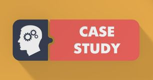Case Study Concept in Flat Design. Royalty Free Stock Photos