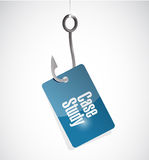 Case study hook tag sign concept Royalty Free Stock Photo