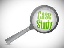 Case study investigation illustration design Royalty Free Stock Photo