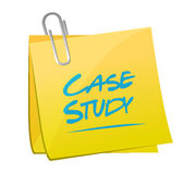 Case study memo sign concept illustration Stock Image