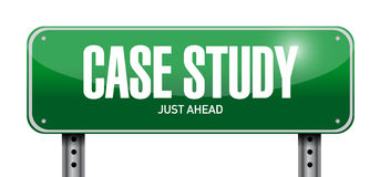 Case study post sign concept Royalty Free Stock Photos