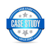 Case study seal sign concept Royalty Free Stock Photo