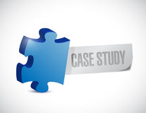 Case study sign illustration design Stock Photography