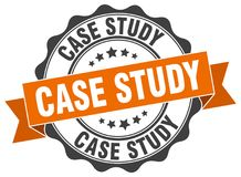 Case study stamp. seal Royalty Free Stock Photography