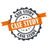 Case study stamp Stock Images