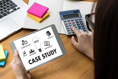 CASE STUDY Student Studying Hard and Students Learning Education Stock Photography