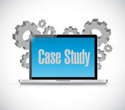 Case study tech computer sign concept Stock Image
