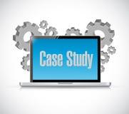 Case study tech computer sign concept Stock Image