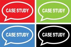 CASE STUDY text, on ellipse speech bubble sign. Stock Images