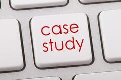 Case study. Word written on computer keyboard Stock Photo