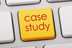Case study. Word written on computer keyboard Stock Photography