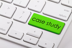 Case study. Word written on computer keyboard Royalty Free Stock Photos
